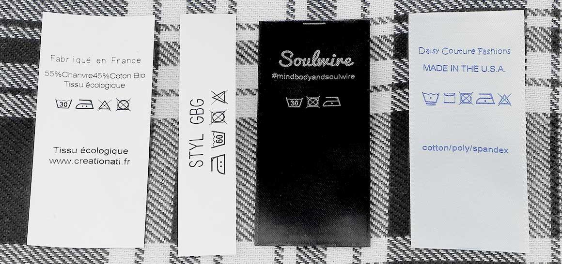 Quelques conseils pour vos étiquettes d´entretien des textiles