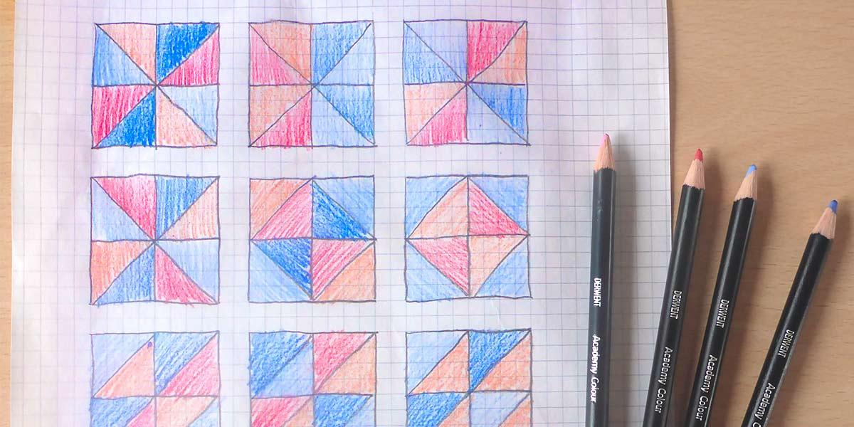 Comment créer un coussin en quilt: Étape 2: Design et coupe