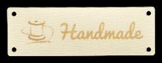 Étiquettes en cuir avec texte & symbole