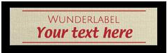 Étiquettes en coton personnalisées - avec texte & symbole