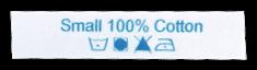 Étiquettes imprimées satinées d'entretien avec texte & symboles - design en ligne