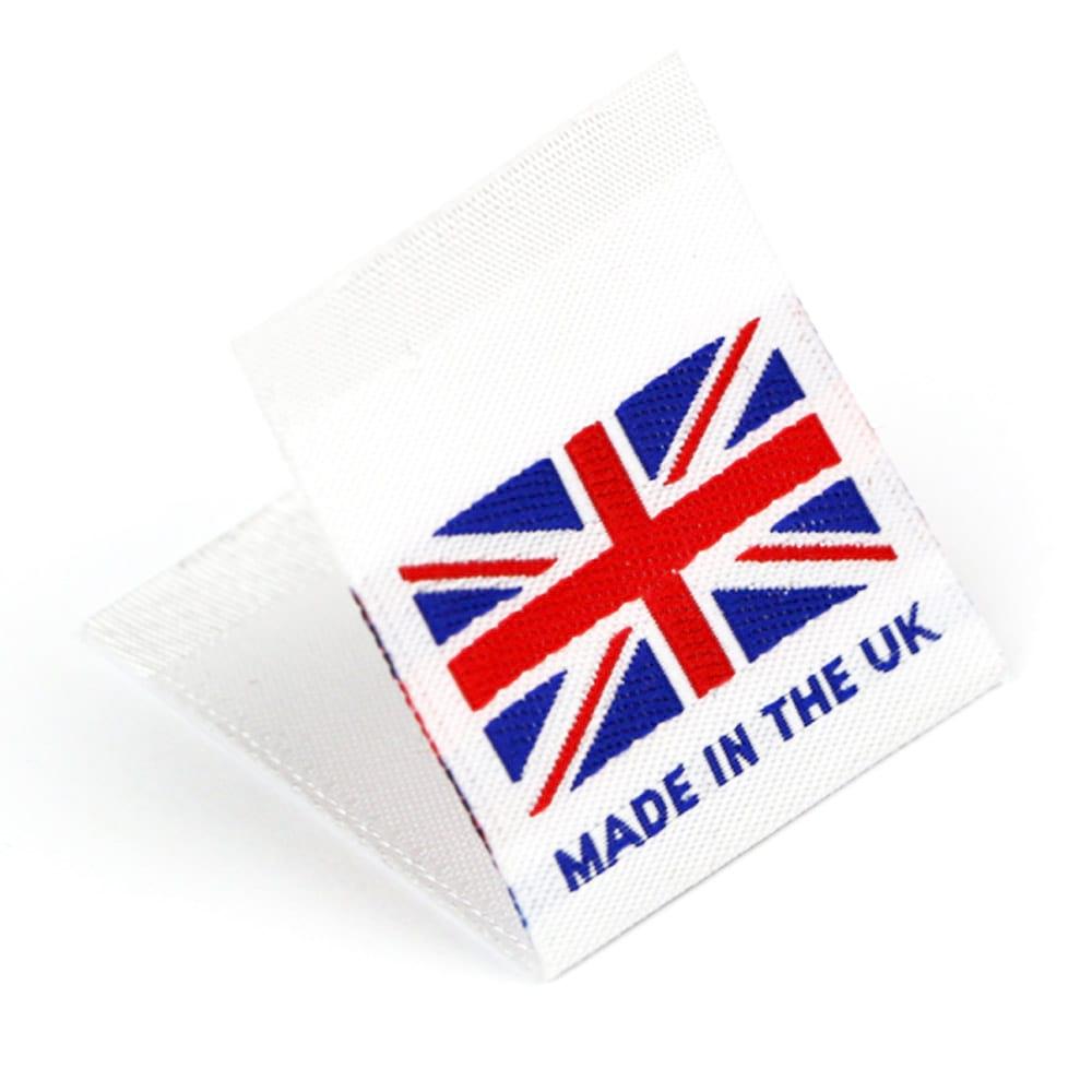 Étiquettes Drapeaux Tissées 'Made in the UK'