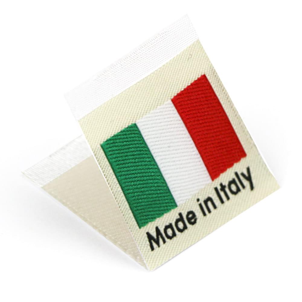 Étiquettes Drapeaux Tissées 'Made in Italy'