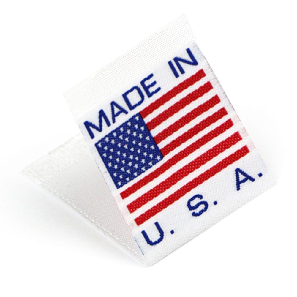 Étiquettes Drapeaux Tissées 'Made in U.S.A.'