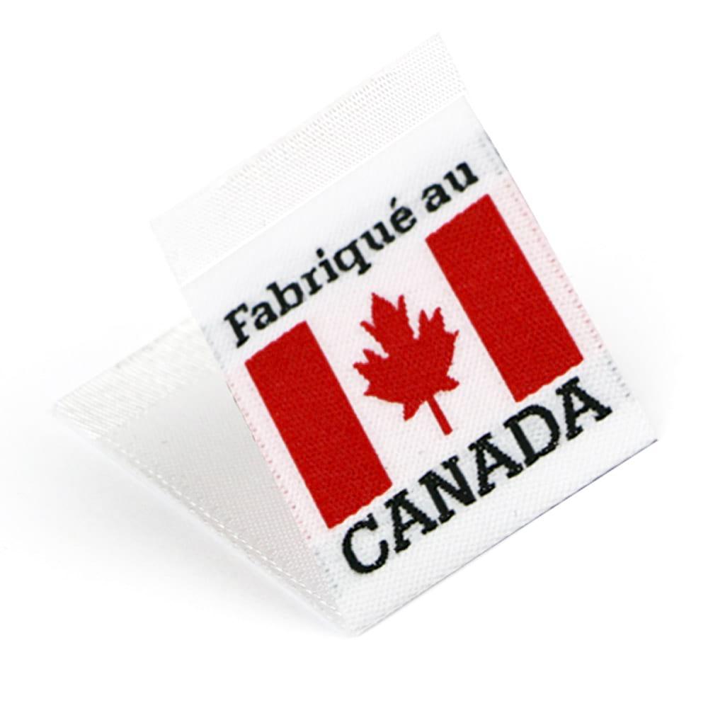 Étiquettes Drapeaux Tissées 'Fabriqué au Canada'
