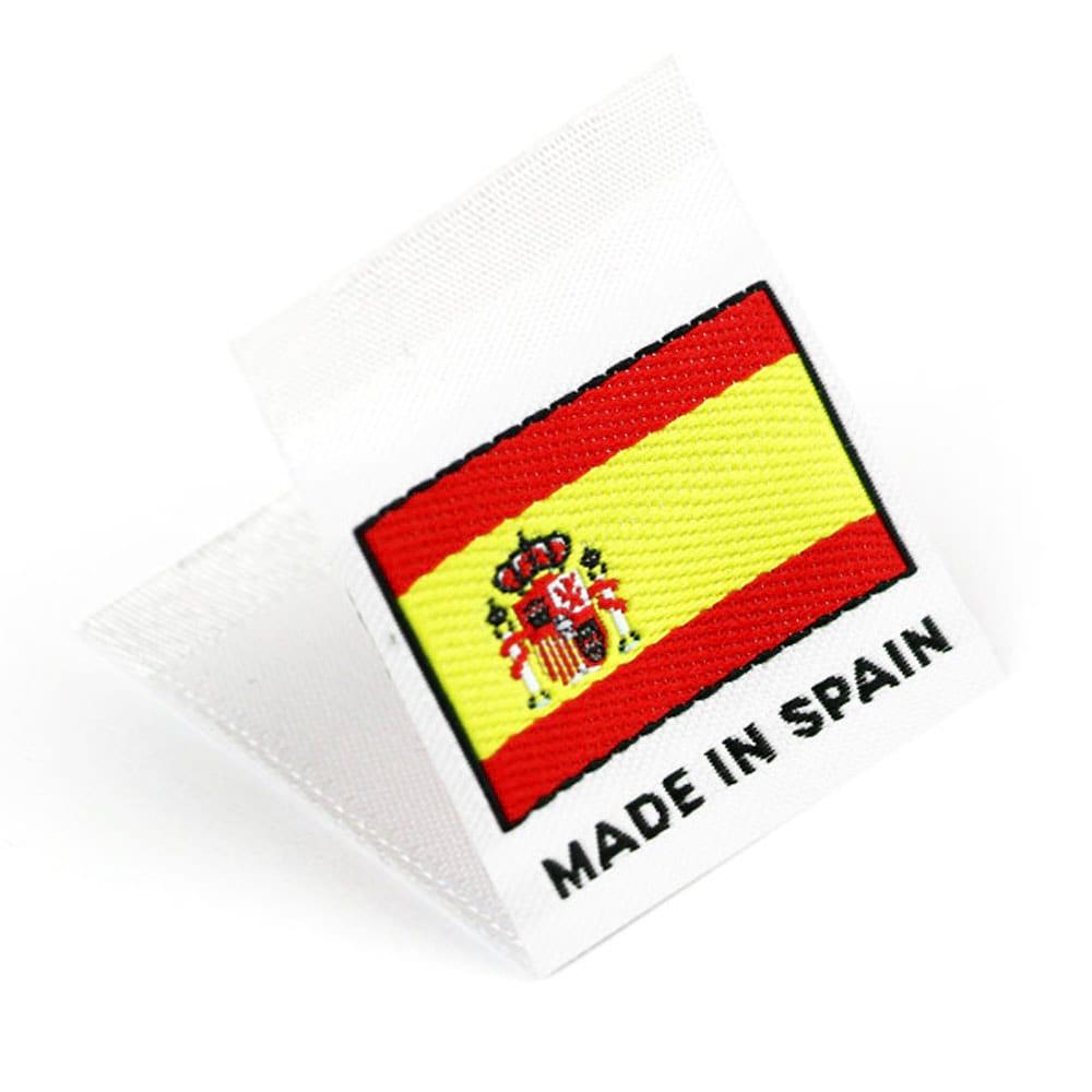 Étiquettes Drapeaux Tissées 'Made in Spain'