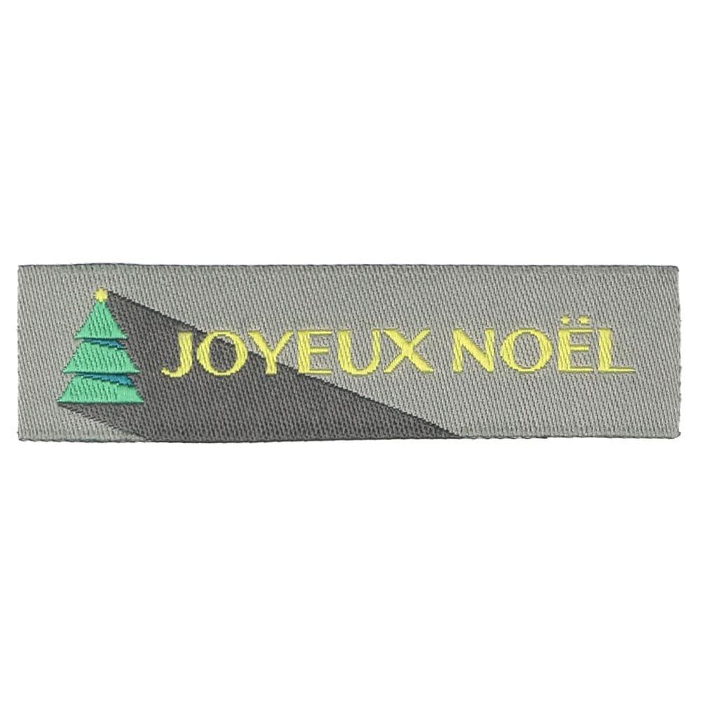 Étiquettes Tissées Noël - Sapin