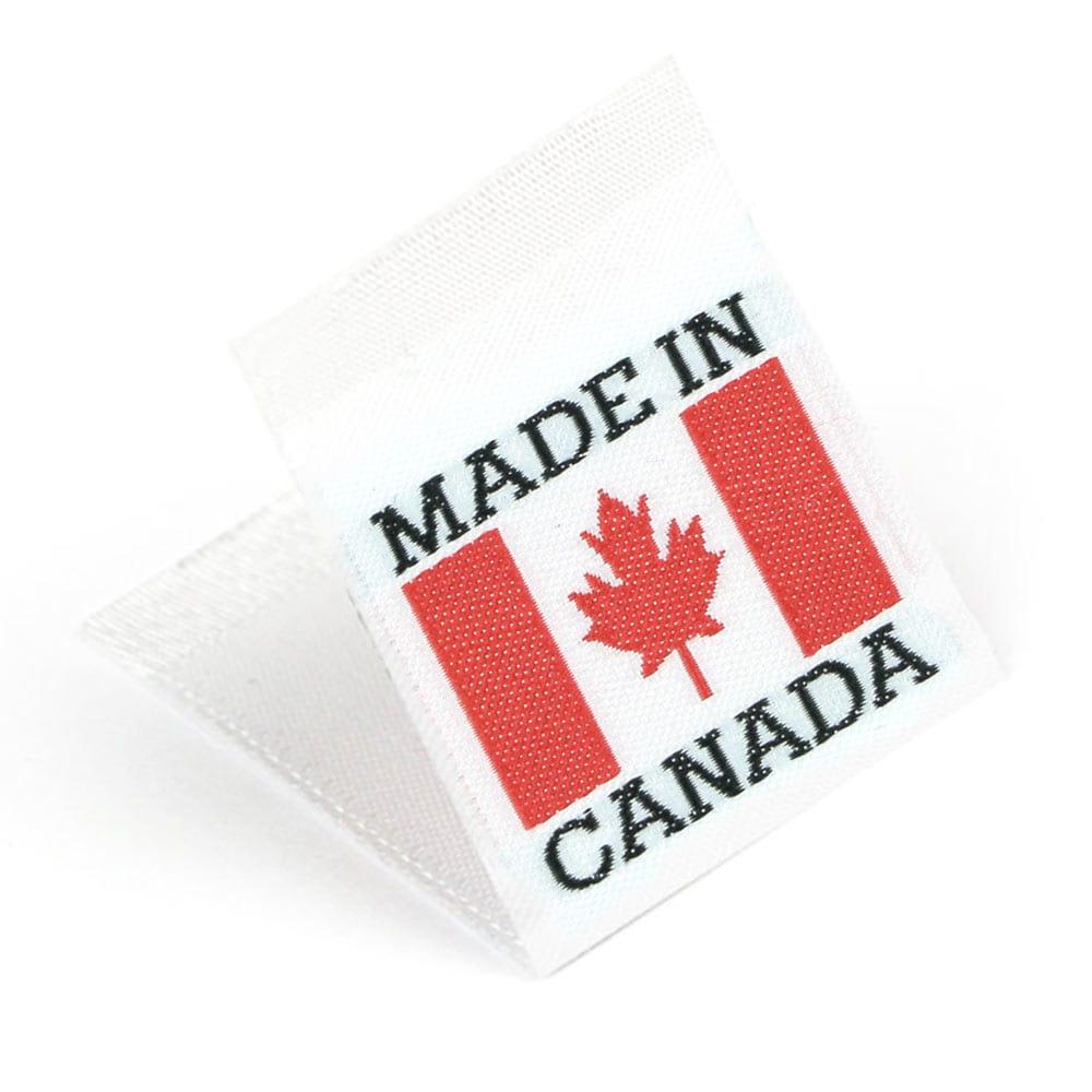 Étiquettes Drapeaux Tissées 'Made in Canada'