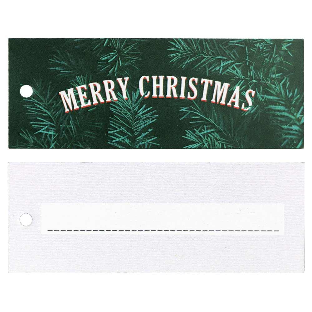 Étiquettes Volantes Festives - Joyeux Noël avec Verdure
