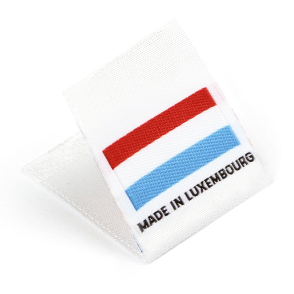 Étiquettes Drapeaux Tissées 'Made in Luxembourg'