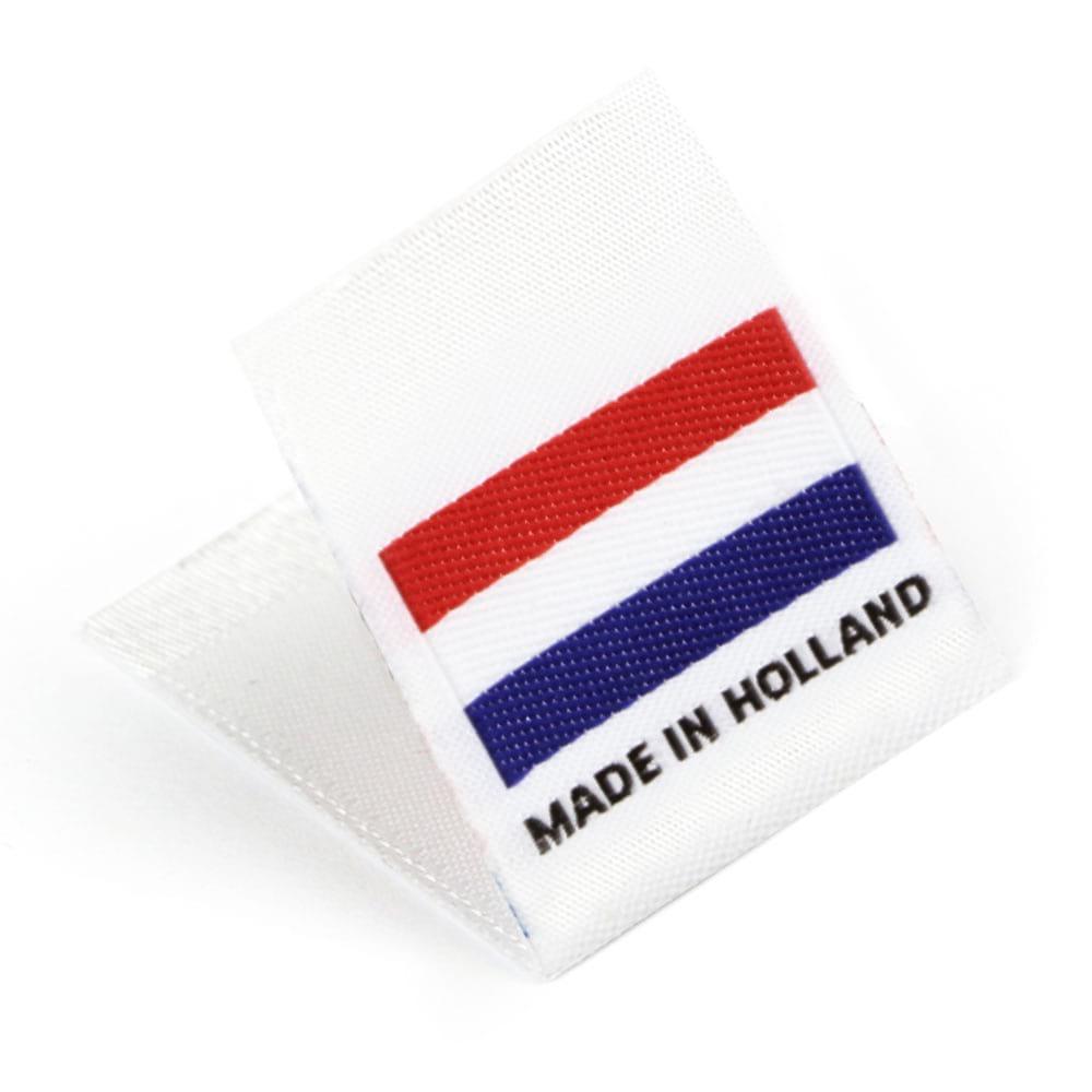 Étiquettes Drapeaux Tissées 'Made in Holland'