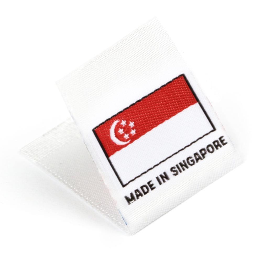 Étiquettes Drapeaux Tissées 'Made in Singapore'