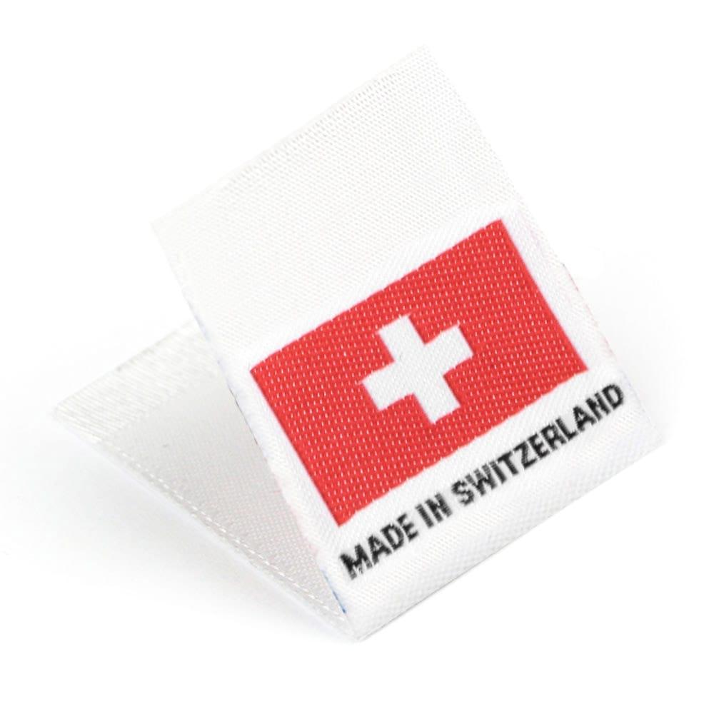 Étiquettes Drapeaux Tissées 'Made in Switzerland'