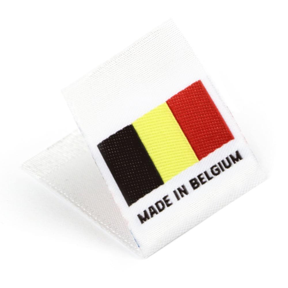 Étiquettes Drapeaux Tissées 'Made in Belgium'