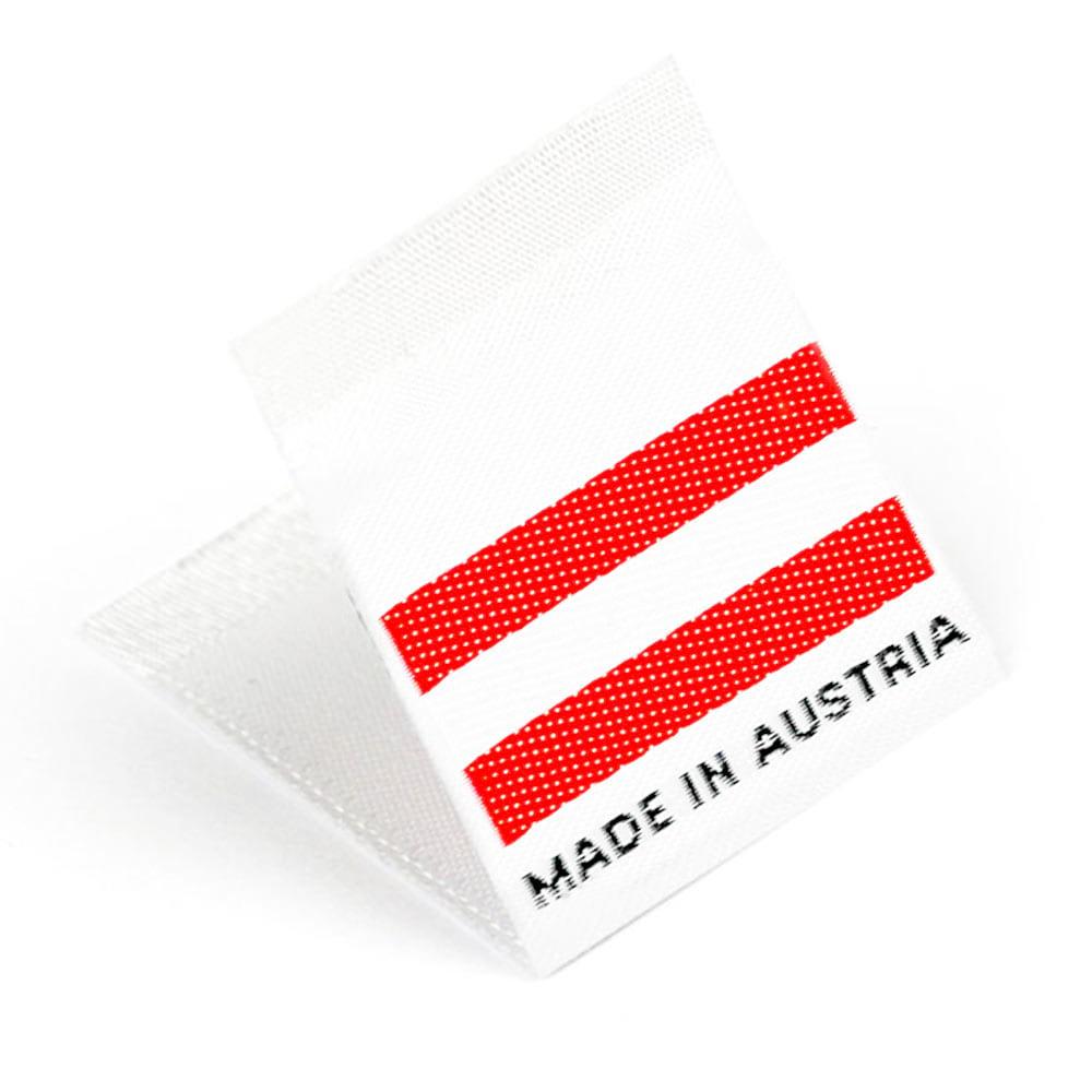 Étiquettes Drapeaux Tissées 'Made in Austria'